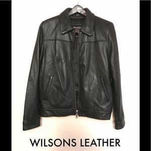 WILSONS LEATHER Black Leather Thinsulation Sz M